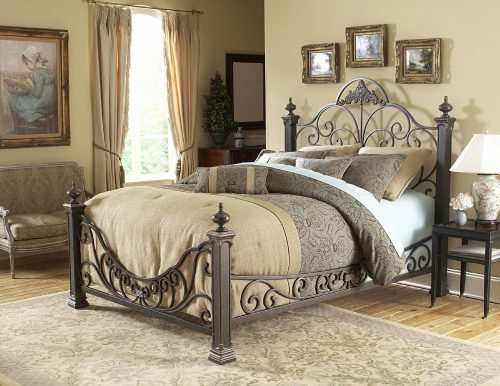 Baroque Headboard/Footboard Rails